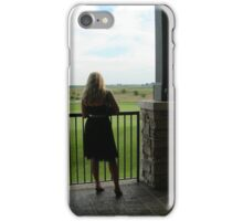 Young Woman Looking Away iPhone Case/Skin