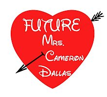FUTURE MRS. CAMERON DALLAS Photographic Print