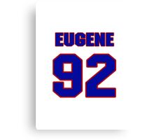 National football player Eugene Sims jersey 92 Canvas Print