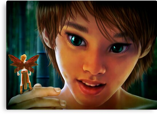 Peter and Tinker Bell by Ivy Izzard