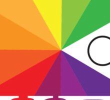 Color Wheel Pun Sticker