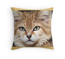Arabian Sand Cat! Throw Pillow