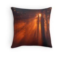 'Sunrise in the Dreamforest' Throw Pillow