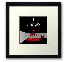I Survived the Red Room (Graphic Version) Framed Print