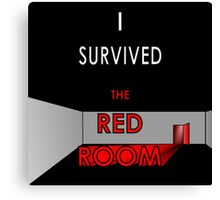 I Survived the Red Room (Graphic Version) Canvas Print