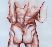 Trunk study in conte crayon by Arzeian