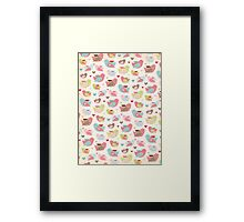Material Birds - Craft Design Framed Print