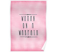 Woman on a Warpath Poster
