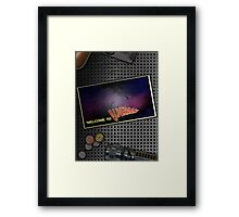 Postcard from the void Framed Print