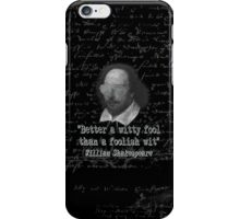 the Witty Fool iPhone Case/Skin
