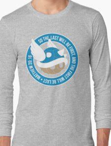 Blue Turtle Shell Long Sleeve T-Shirt
