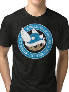Blue Turtle Shell Tri-blend T-Shirt