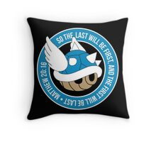 Blue Turtle Shell Throw Pillow