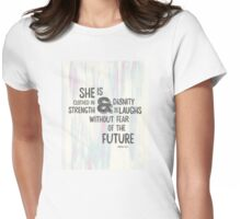 Pretty Painted Modern Typographic Bible Verse. Womens Fitted T-Shirt