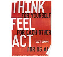 Think, Feel, Act Poster