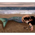 Beached mermaid by carrollcreative