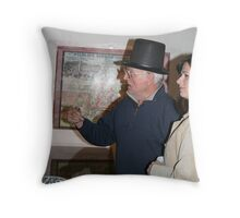 The man in the hat.  Throw Pillow