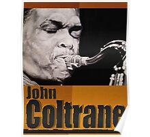 John Coltrane ink portrait Poster