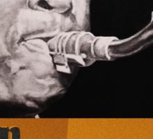 John Coltrane ink portrait Sticker