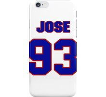 National football player Jose White jersey 93 iPhone Case/Skin