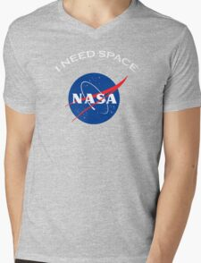 Nasa I need space Mens V-Neck T-Shirt