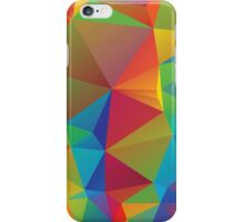 Rainbow Colors Polygonal Background 3 iPhone Case/Skin