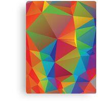 Rainbow Colors Polygonal Background 3 Canvas Print