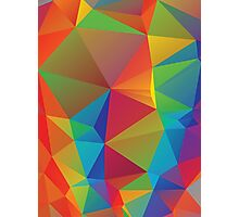 Rainbow Colors Polygonal Background 3 Photographic Print