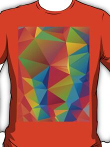 Rainbow Colors Polygonal Background 3 T-Shirt