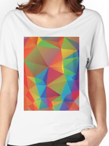 Rainbow Colors Polygonal Background 3 Women's Relaxed Fit T-Shirt
