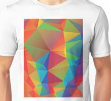 Rainbow Colors Polygonal Background 3 Unisex T-Shirt