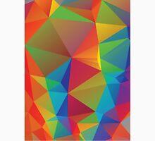 Rainbow Colors Polygonal Background 3 Unisex T-Shirt