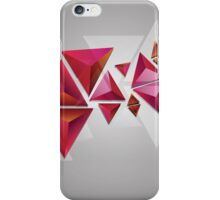 Red 3d Triangles iPhone Case/Skin