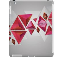 Red 3d Triangles iPad Case/Skin