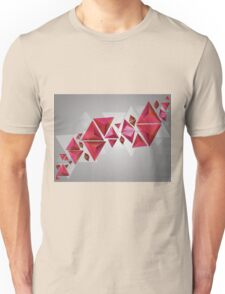 Red 3d Triangles Unisex T-Shirt
