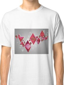 Red 3d Triangles 2 Classic T-Shirt