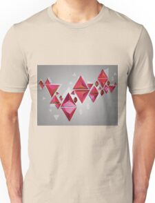 Red 3d Triangles 2 Unisex T-Shirt