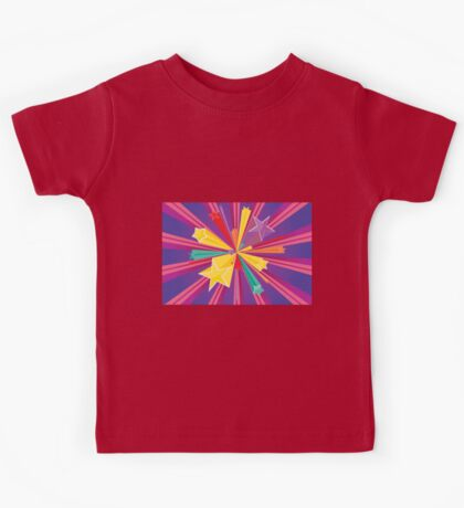 Vibrant Colorful Background Kids Tee