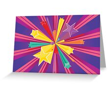 Vibrant Colorful Background Greeting Card