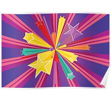 Vibrant Colorful Background Poster