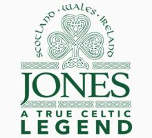 Excellent 'Jones, A True Celtic Legend' Last Name TShirt, Accessories and Gifts by Albany Retro