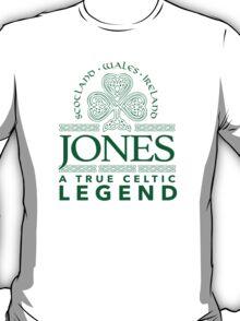 Excellent 'Jones, A True Celtic Legend' Last Name TShirt, Accessories and Gifts T-Shirt