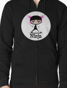 Cute Ninja Girl Vector Art T-Shirt