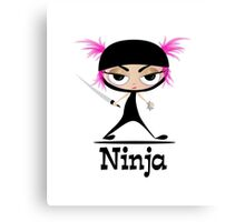 Cute Ninja Girl Vector Art Canvas Print