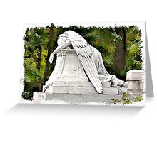 Weeping Angel watercolour Greeting Card