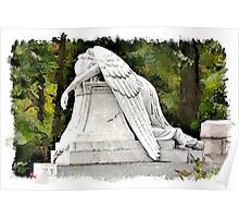 Weeping Angel watercolour Poster