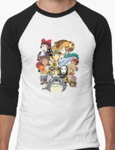 Studio Ghibli Collage Men's Baseball ¾ T-Shirt