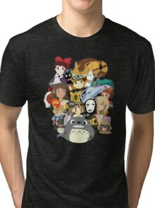 Studio Ghibli Collage Tri-blend T-Shirt