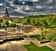 Legislature Grounds in HDR by Myron Watamaniuk