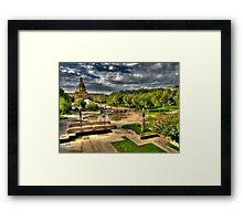 Legislature Grounds in HDR Framed Print